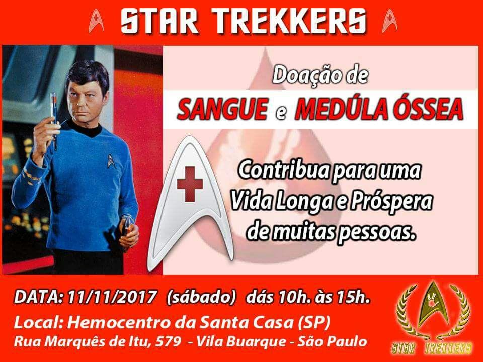 Doação - Sangue e Medula Óssea do Star Trekkers