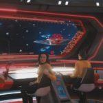 """""""Such Sweet Sorrow"""" - S02E13 - Vista da ponte da Enterprise com a Número Um"""