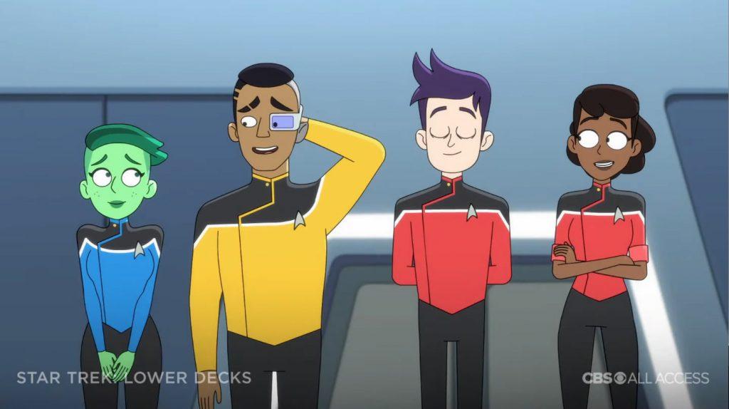 Personagens principais - Star Trek: Lower Deck Trailer