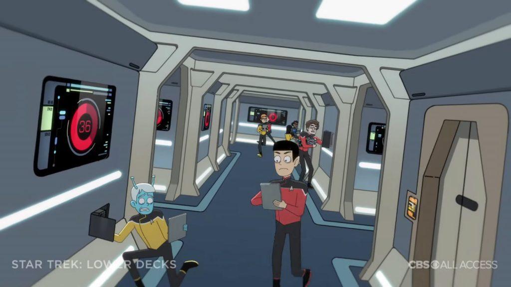 Andoriano na tripulação - Star Trek: Lower Deck Trailer